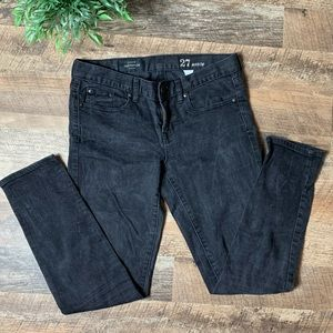 J Crew Jeans Toothpick Black stretch Ankle Size 27